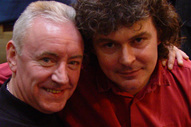 unfortunately I didn't get a photograph of John Spillane live in concert, but here he is after a gig in Limerick pictured with Don Baker